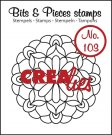 Crealies Clearstamp Bits&Pieces no. 103 Mandala C