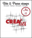 Crealies Clearstamp Bits&Pieces no. 11 Sparkle