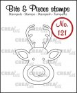 Crealies Clearstamp Bits&Pieces no. 121 Reindeer