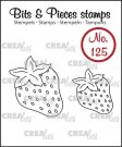 Crealies Clearstamp Bits&Pieces no. 125 Strawberries