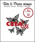 Crealies Clearstamp Bits&Pieces no. 16 Butterfly 4