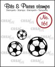 Crealies Clearstamp Bits & Pieces soccer balls