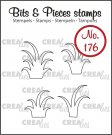 Crealies Clearstamps Bits & Pieces - 4x grass