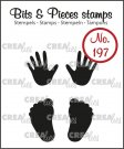 Crealies Clearstamp Bits&Pieces - Baby hands + feet (solid)