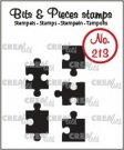 Crealies Clearstamp Bits & Pieces 5x puzzle pieces (solid)