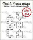 Crealies Clearstamp Bits & Pieces 5x puzzle pieces (outline)