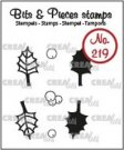 Crealies Clearstamps Bits & Pieces no. 219 - Holly, leaves and berries CLBP219
