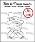 Crealies Clearstamps Bits & Pieces no. 220 - Snowman CLBP220