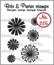 Crealies Clearstamp Bits & Pieces Mini Flowers 26