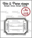 Crealies Clearstamp Bits & Pieces - Ticket