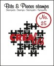 Crealies Clearstamp Bits&Pieces no. 25 Puzzle Pieces