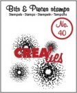 Crealies Clearstamp Bits&Pieces no. 40