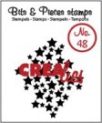 Crealies Clearstamp Bits&Pieces no. 48 Stars