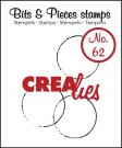 Crealies Clearstamp Bits&Pieces no. 62 Big grunge circles