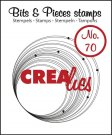 Crealies Clearstamp Bits&Pieces no. 70 Circles with dots