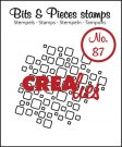 Crealies Clearstamp Bits&Pieces no. 87 open squares