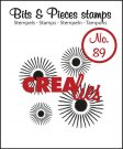 Crealies Clearstamp Bits&Pieces no. 89 4x sun