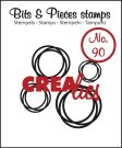 Crealies Clearstamp Bits&Pieces no. 90 intertwined circles