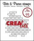 Crealies Clearstamp Bits&Pieces no. 93 open bricks small