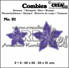 Crealies Combies no.1 flowers A