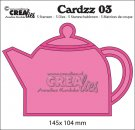 Crealies Cardzz no 3 Teapot