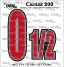 Crealies Cardzz Dies no. 200, Numbers 0 and ½ (8 dies)