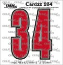Crealies Cardzz Dies no. 234, Numbers 3 and 4 (6 dies)