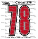 Crealies Cardzz Dies no. 278, Numbers 7 and 8 (6 dies)