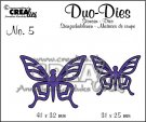 Crealies Duo Dies no 5. Duo Butterflies 1