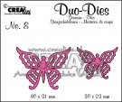 Crealies Duo Dies no. 8 Duo Butterflies 4