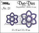 Crealies Duo Die no. 21 Flowers #12