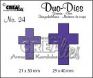 Crealies Duo Die no. 24 Crosses