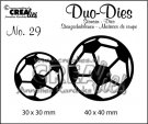 Crealies Duo Dies no. 29 Soccerballs