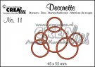 Crealies Decorette no. 11 Die - Interlocking Circles