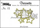 Crealies Decorette no. 13 Die - Interlocking Stars