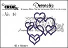 Crealies Decorette no. 14 die Interlocking Hearts