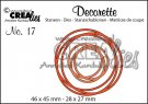 Crealies decorette no. 17 Die - Intertwined Circles