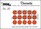 Crealies Decorette die no. 20 Only circles