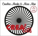 Crealies Masks & More Mini no. 105 Sun bended rays