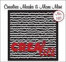 Crealies Masks & More Mini no. 110 Scribble lines