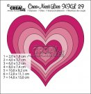 Crealies Crea-Nest-Lies XXL no. 29 dies Heart (7 dies)