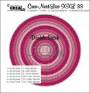Crealies Crea-nest-dies XXL no.33 dies - Double Stitch Circles (12 dies)