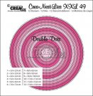 Crealies Crea-nest-dies XXL no. 49 dies - Double Dots circles (12 dies)