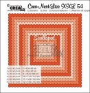 Crealies Crea-nest-dies XXL no. 54 dies - Scalloped squares (12 dies)