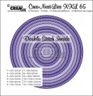 Crealies Crea-nest-dies XXL no. 65 dies - Circles with double stitch inside (12 dies)