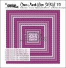 Crealies Crea-nest-dies XXL no. 69 dies - Squares with open scallop (12 dies)