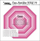 Crealies Crea-nest-dies XXL no. 79 dies - Octagon with stitchline (12 dies)