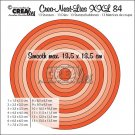 Crealies Crea-Nest-Lies XXL no. 84 Dies - Smooth circles half cm (13 dies)