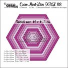 Crealies Crea-Nest-Lies XXL no. 88 Dies - Smooth hexagons (12 dies)