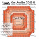 Crealies Crea-Nest-Lies XXL no. 96 Dies - Ticket square with double-stitch (8 dies)